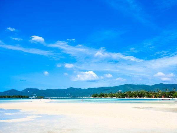 Paradise tropical island, Chaweng beach, Koh Samui, Thailand